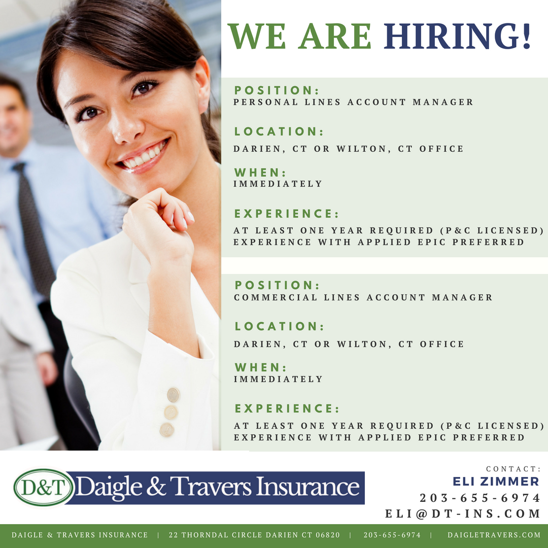 career opportunities with Daigle and Travers Insurance Agency