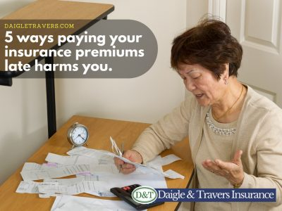5 ways paying your insurance premiums late harms you